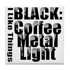 BLACK METAL Tile Coaster