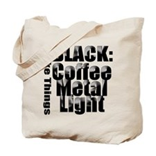 BLACK METAL Tote Bag