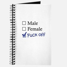 Male/Female/Fuck Off Journal