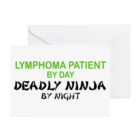 Lymphoma Patient Deadly Ninja Greeting Cards (Pk o