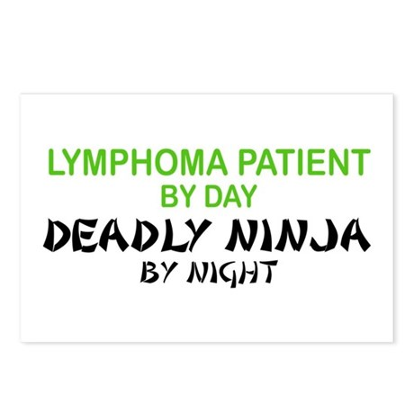 Lymphoma Patient Deadly Ninja Postcards (Package o