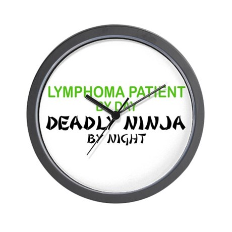 Lymphoma Patient Deadly Ninja Wall Clock