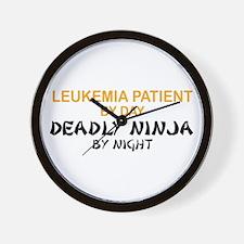 Leukemia Patient Deadly Ninja Wall Clock