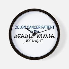 Colon Patient Deadly Ninja Wall Clock