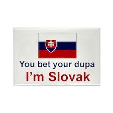 Slovak Dupa Rectangle Magnet