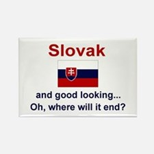 "Good Looking Slovak Magnet (3""x2"")"