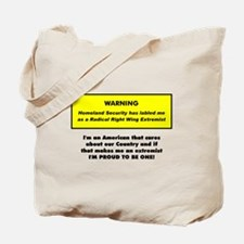 Proud American Extremist Tote Bag