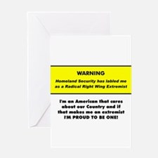 Proud American Extremist Greeting Card
