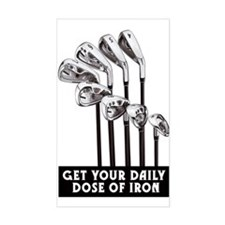 GOLF IRONS Rectangle Bumper Stickers