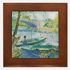 Van Gogh Fisherman and boats Framed Tile