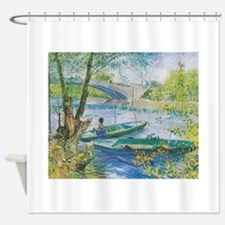 Van Gogh Fisherman and boats Shower Curtain