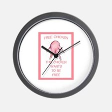 Funny Meat is murder Wall Clock