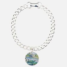 Van Gogh Fisherman and b Charm Bracelet, One Charm