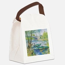 Van Gogh Fisherman and boats Canvas Lunch Bag