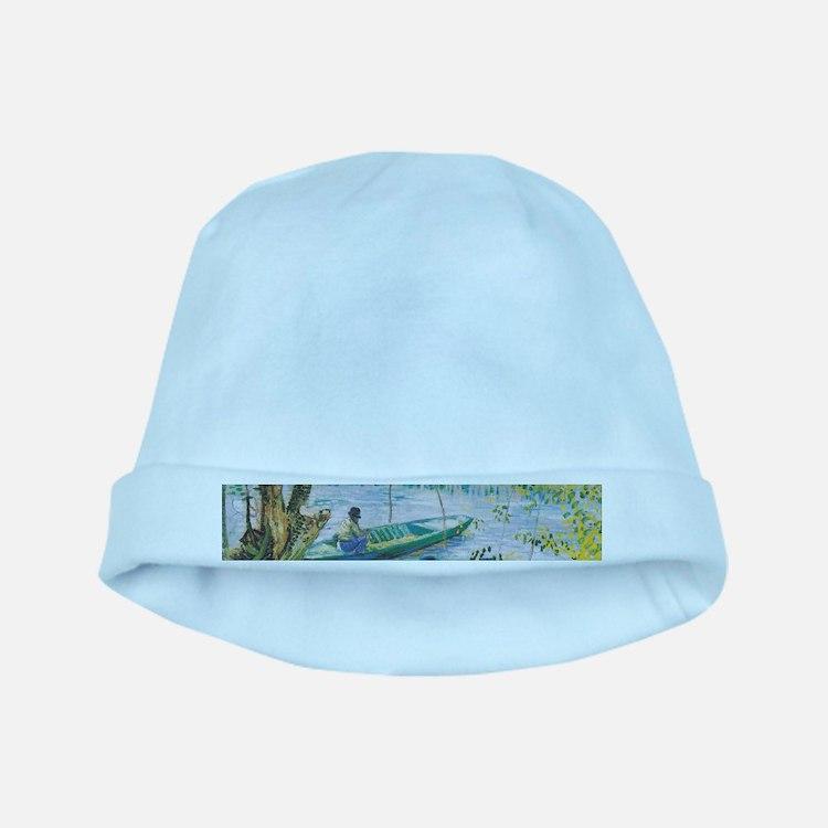 Van Gogh Fisherman and boats Baby Hat