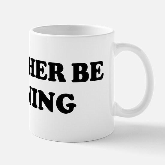 Rather be Running Mug