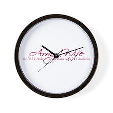 Army Wife Rank Wall Clock