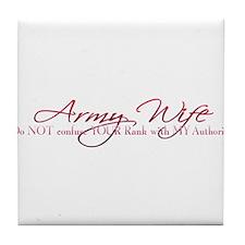 Army Wife Rank Tile Coaster