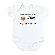 Funny Meat is murder tasty tasty murder Infant Bodysuit