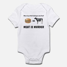 Funny Meat is murder Infant Bodysuit