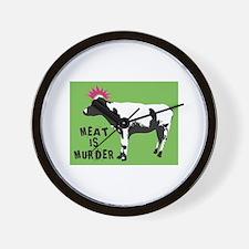 Cute Meat is murder Wall Clock