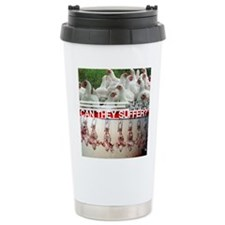 Funny Meat is murder Travel Mug