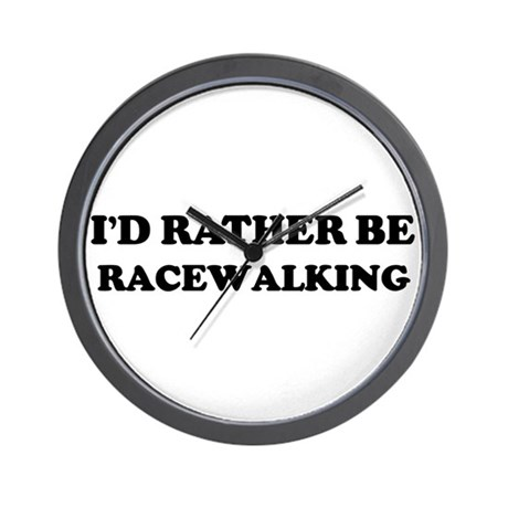 Rather be Racewalking Wall Clock