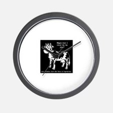 Cool Meat is murder Wall Clock