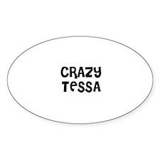 CRAZY TESSA Oval Decal