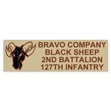 2-127th Infantry <BR>B Company Bumper Sticker 2