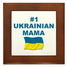 #1 Ukrainian Mama Framed Tile