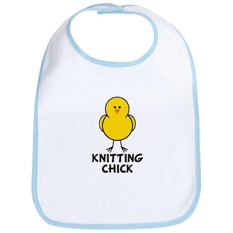 Knitting Chick Bib