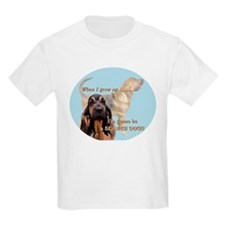 bloodhound grows up Kids T-Shirt