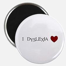 I Dyslexia Love Magnet