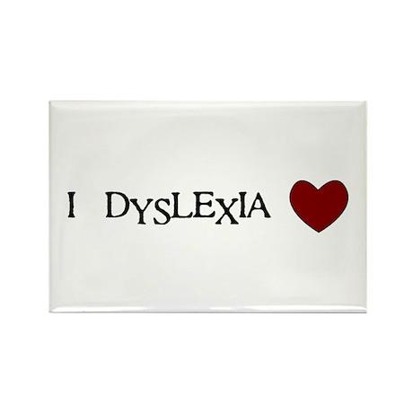 I Dyslexia Love Rectangle Magnet