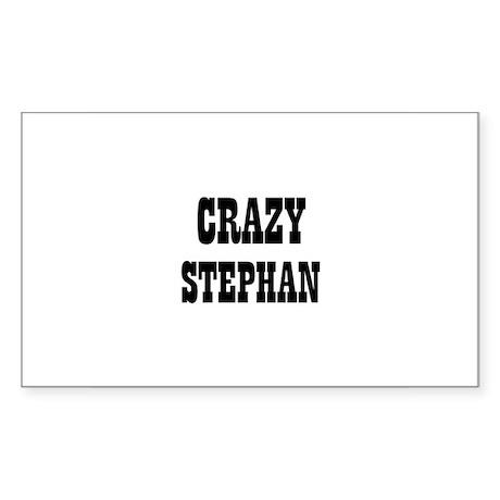 CRAZY STEPHAN Rectangle Sticker