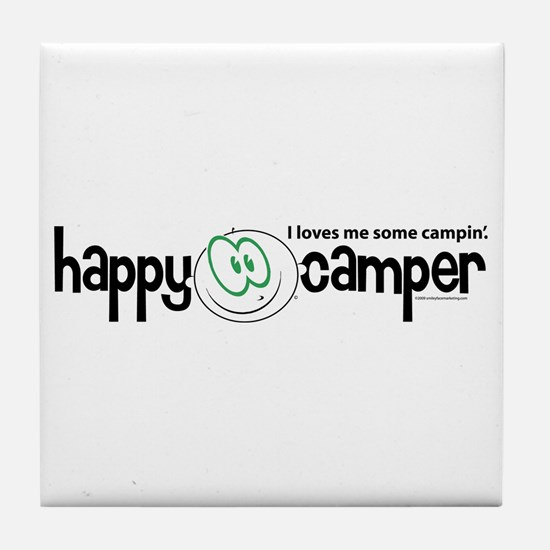 Funny Happy camper Tile Coaster