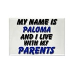 my name is paloma and I live with my parents Recta