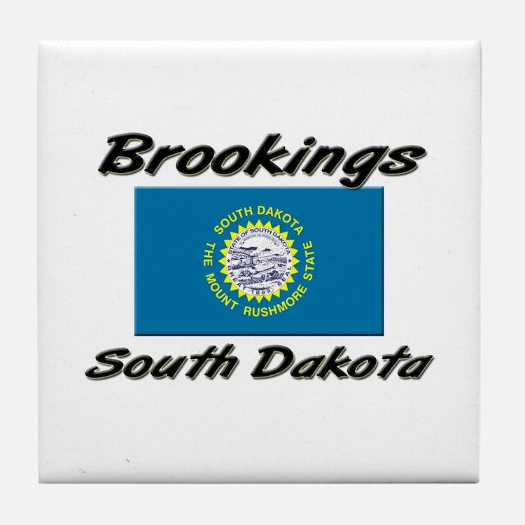 Brookings South Dakota Tile Coaster