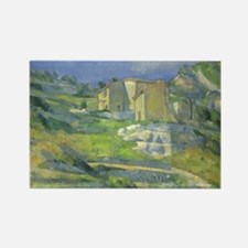 Houses in Provence by Cezanne Rectangle Magnet (10