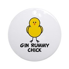Gin Rummy Chick Ornament (Round)