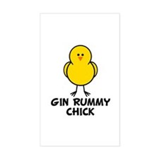 Gin Rummy Chick Rectangle Decal