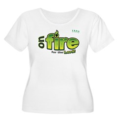 On Fire for the Lord 2 green T-Shirt