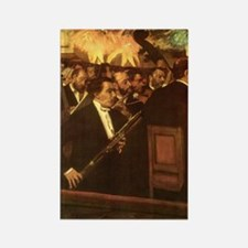 Orchestra of Opera by Degas Rectangle Magnet (10 p