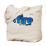 On Fire for the Lord 2 blue Tote Bag