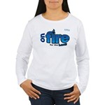 On Fire for the Lord 2 blue Women's Long Sleeve T-