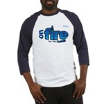 On Fire for the Lord 2 blue Baseball Jersey