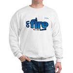 On Fire for the Lord 2 blue Sweatshirt