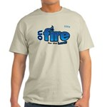 On Fire for the Lord 2 blue Light T-Shirt