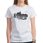 On Fire for the Lord 2 black Women's T-Shirt